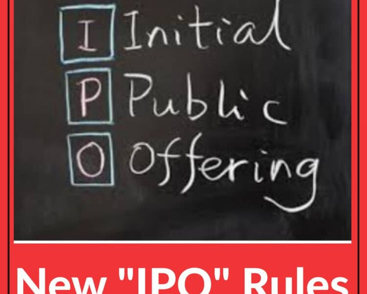 This New Rule will Change the Way You Buy IPO's
